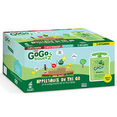 GoGo SqueeZ Applesauce Variety Pack (3.2 oz. pouches, 20 ct.)