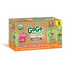 GoGo SqueeZ Fruit & Veggiez Organic Variety Pack (3.2 oz. pouches, 16 ct.)