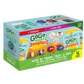 GoGo SqueeZ SmoothieZ, Variety Pack (4 oz., 16 pk.)