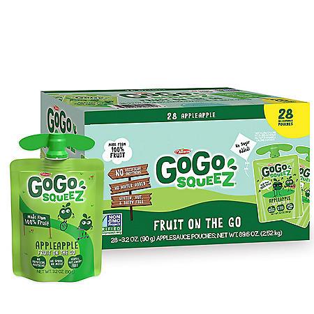 GoGo SqueeZ Applesauce, Apple Apple (3.2 oz., 28 ct.)