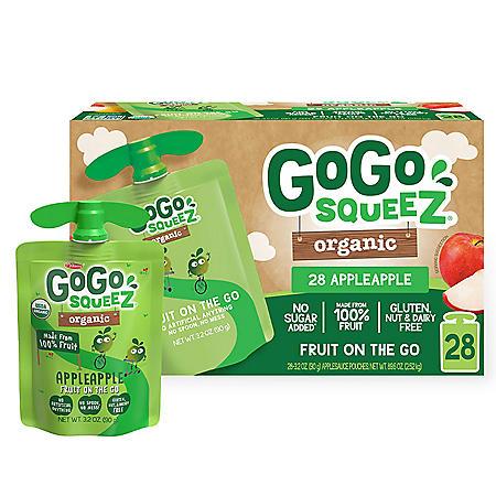 GoGo SqueeZ Organic Apple Apple (3.2 oz., 28 ct.)