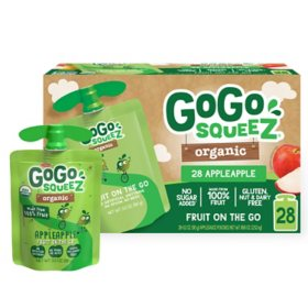 GoGo SqueeZ Organic Apple Apple (3.2 oz., 28 ct.)