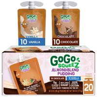 GoGo SqueeZ Almond Blend Pudding, Chocolate and Vanilla (20 ct.)