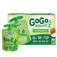GoGo SqueeZ Applesauce Pouches, Apple Apple (3.2 oz., 32 ct.)