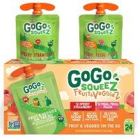 GoGo SqueeZ Fruit & VeggieZ Applesauce Pouches (3.2 oz., 24 ct.)