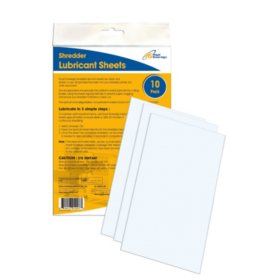 "Royal Sovereign Shredder Lubricant Sheets, 6.25"" x 0.06"" x 10.0"""