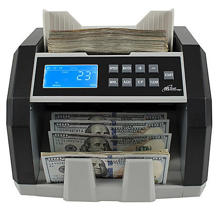 Royal Sovereign Front Load Bill Counter with 3Phase Counterfeit Detection - 1,500 Bills Per Minute