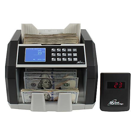 Royal Sovereign Front Load Bill Counter with 3Phase Counterfeit Detection and External Display - 1,500 Bills Per Minute