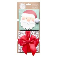 Gift Card Impressions: Santa + Red Bow Box Gift Card Holders, 2-Pack