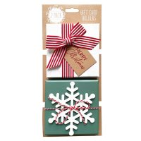 Gift Card Impressions: White Box with Bow + Snowflake Box Gift Card Holders, 2-Pack