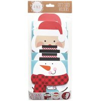Gift Card Impressions: Snowman + Santa Reveal Gift Card Holders, 4-Pack