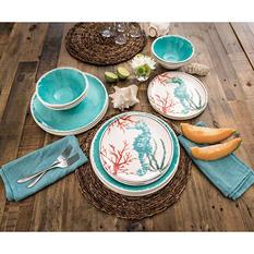 18-Piece Melamine Dinnerware Set (Assorted Colors)