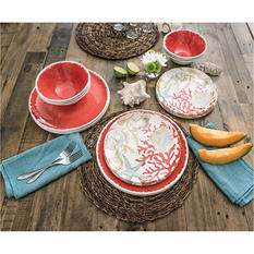 18-Piece Melamine Dinnerware Set (Assorted Colors)