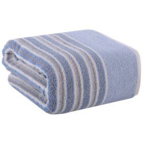 Luxury Performance Collection Oversized Striped Bath Towel 30 X 60