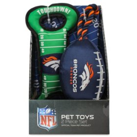 NFL Licensed Nylon Pet Toy, Choose Your Team (2 pk.)