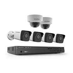 LaView 8-Channel 4K UHD IP NVR Security System with 2TB Hard Drive, 4x 4MP Bullet Cameras and 2x 4MP Dome Cameras with 100' Night Vision