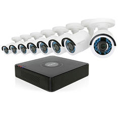 LaView 8-Channel 1080p HD-TVI Surveillance System with 2TB Hard Drive + 1 Bonus IP Channel, 8x 1080p Bullet Cameras with Remote View, and 65' Night Vision