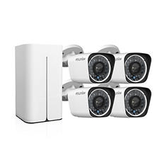 LaView 8-Channel 1080p Wi-Fi Wireless NVR Surveillance System with 1TB Hard Drive, 4x 1080p Bullet Cameras with Remote View, and 100' Night Vision