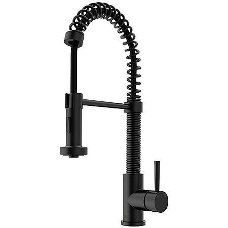 Vigo Edison Pull-Down Spray Kitchen Faucet (Matte Black)