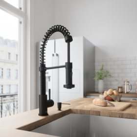 VIGO Edison Pull-Down Spray Kitchen Faucet (Matte Black)