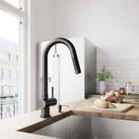 VIGO Gramercy Pull-Down Kitchen Faucet (Matte Black)