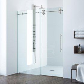 Vigo Elan Adjustable Frameless Sliding Shower Door
