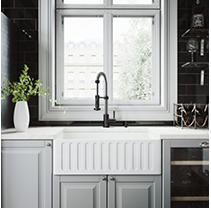 "VIGO 30"" Matte Stone Farmhouse Kitchen Sink"