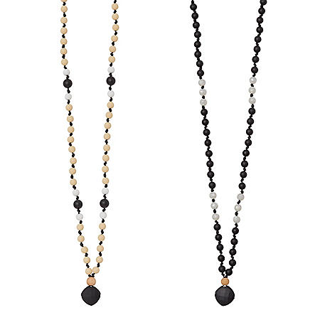 Anjie + Ash Goddess Collection Calm + Balance Teething Necklace Set