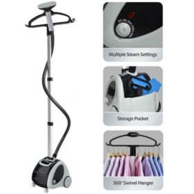SALAV GS65-BJ Professional Wide Bar Garment Steamer with Wheels and Storage Pocket