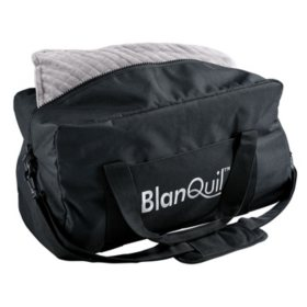 BlanQuil Passport Travel Weighted Blanket, Grey