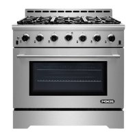 """NXR Stainless Steel 36"""" Gas Range with LED"""