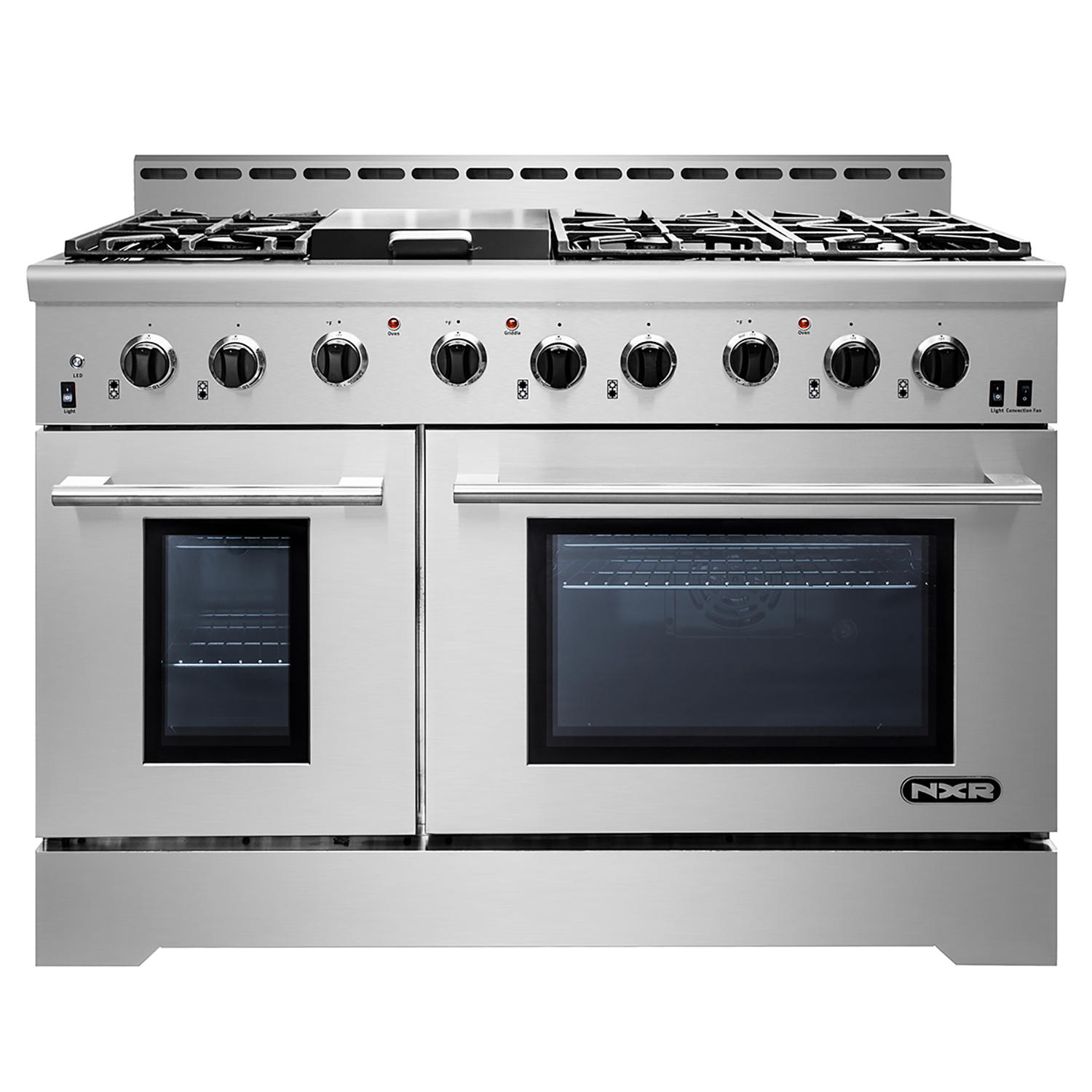 NXR MM4811 Stainless Steel 48 Inch Gas Range with LED