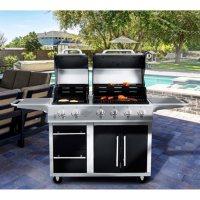 Deals on NXR 4 Main Burners+ 2-Burner Griddle Combo Grill