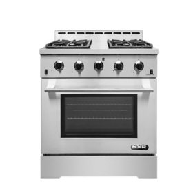 "NXR Stainless Steel 30"" Professional Style Gas Range with Convection Oven"