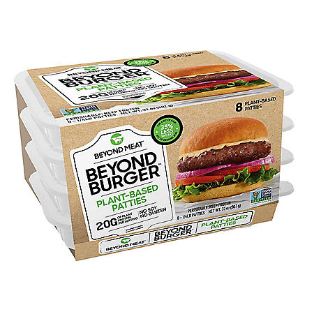Beyond Meat Beyond Burger Plant-Based Patties, Frozen (8 ct.)