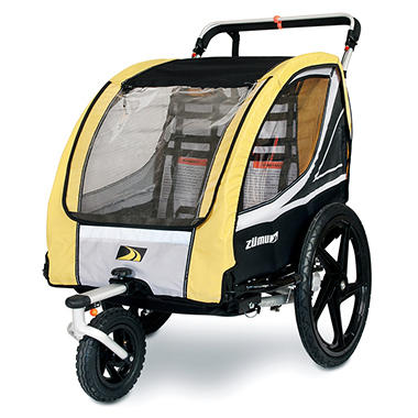 Bike Trailer with Jogger and Stroller Conversion