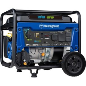 Westinghouse WGen5300DFv Dual Fuel Portable Generator with Volt Switch Selector