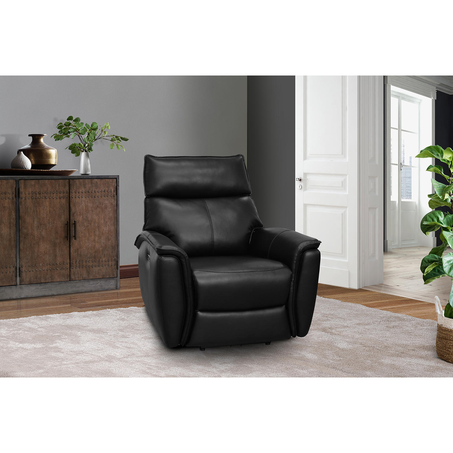 Ethan Power Recliner with Power Adjustable Headrest