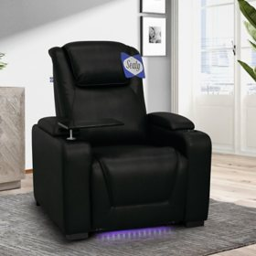 Sealy Tomlin Leather Power Home Theater Recliner, Assorted Colors