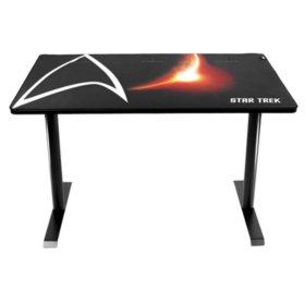 Arozzi Arena Leggero Compact Gaming Desk - Star Trek Edition (Black)