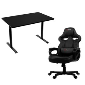 Arena Leggero Gaming Desk and Milano Gaming Chair Bundle, Assorted Colors