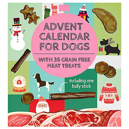 Advent Calendar for Dogs with 35 All Natural Treats