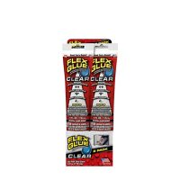 Flex Glue Strong Rubberized Waterproof Adhesive, 4 oz, Clear 2pk