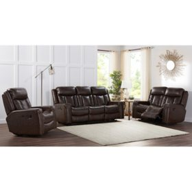 Member's Mark Standage 3-Piece Leather Set