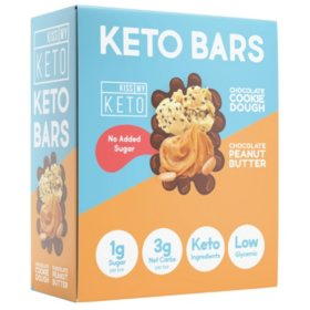 Kiss My Keto Bars, Low Carb and Sugar Keto Snack Bars, Variety Pack (12 ct.)