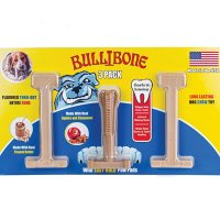 Bullibone Long-Lasting Dog Chew Toy with Real Peanut Butter ( 3 pk.)