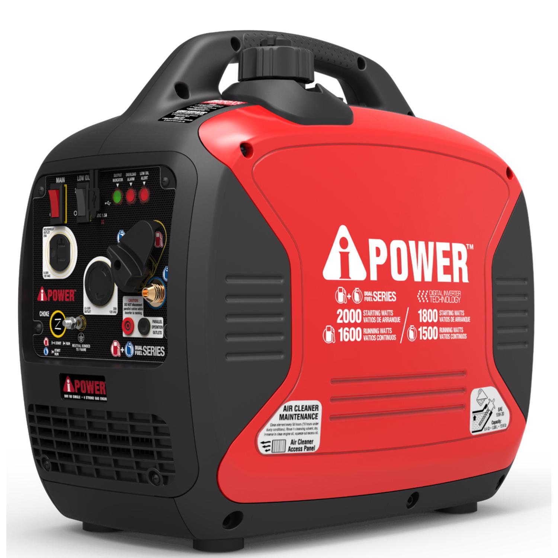 A-iPower SUA2000iD Digital Enclosed Inverter Dual Fuel Generator