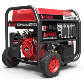 A-iPower Portable Generator with Electric Start, 10,000 Watt Starting Power & 8,000 Watt Running Power, Large Fuel Tank for Extended Run Time