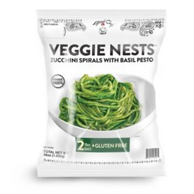 Tattooed Chef Veggie Nest Zucchini Spirals With Pesto, Frozen (36 oz.)