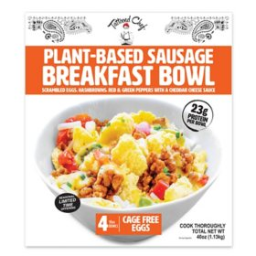 Tattooed Chef Plant-Based Sausage Breakfast Bowl, Frozen (4 ct.)